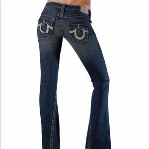 EUC True Religion Joey Big T Flare Jeans Size 25